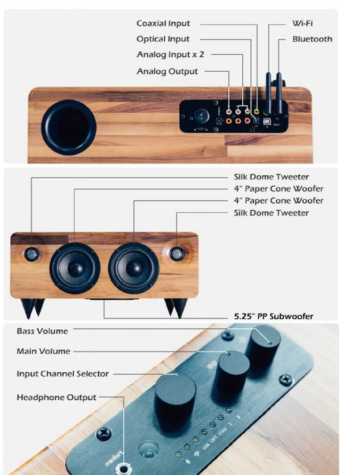 Image of MIN7 : The Multi-function Handmade Wooden Speaker-oak
