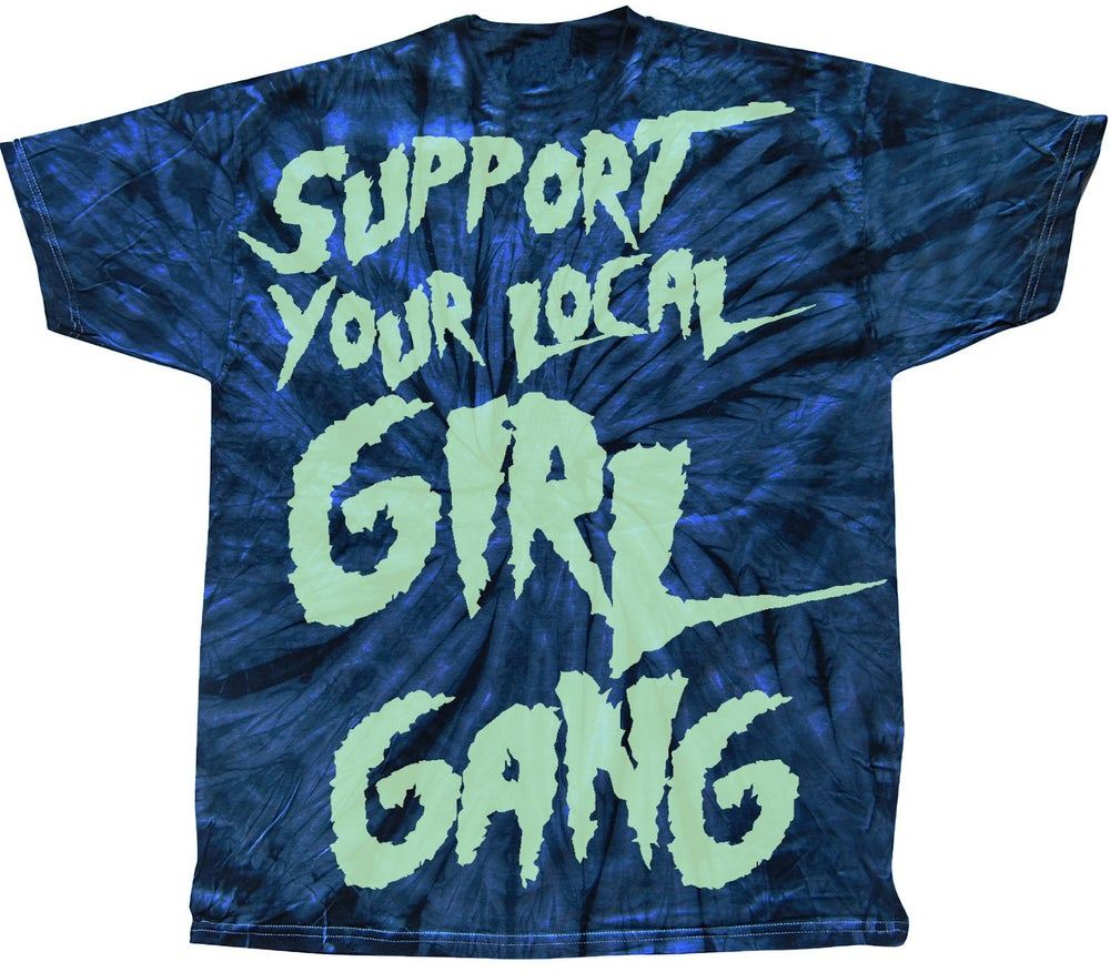 Image of Thin Lizzies Girl Gang Tie Dye Navy