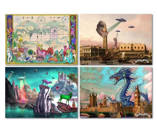 Image of 8 Postcards Set -