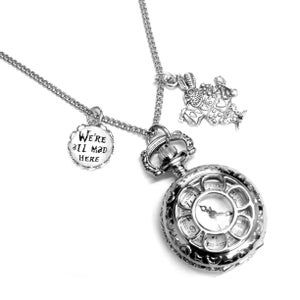 Image of We're All Mad Here Watch Necklace