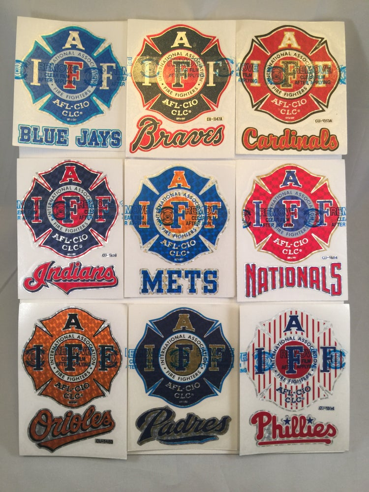 "Image of MLB - 4"" IAFF Maltese Premium Reflective Decals"