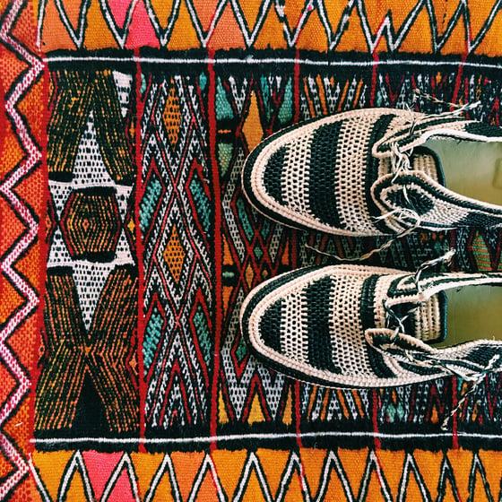 Image of •Dellah• raffia chukkas