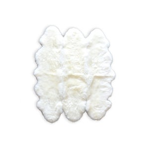 Image of 676685001801 Natural -New Zealand Sheepskin Six OffWhite