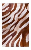 Image of 676685001580 Leather Stitch Hide - Safari Brown & White