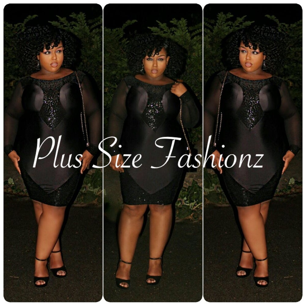 Image of Black Sequence Dress
