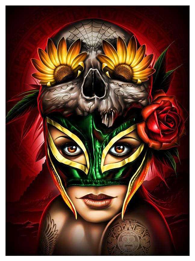 Image of Luchadora Fine Art Giclee Print