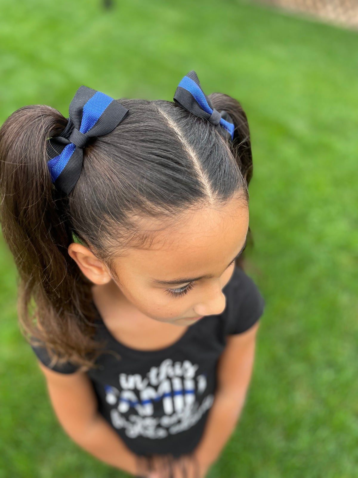 Image of Blue Line Ribbon Bow (sold separately)