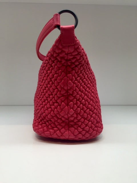 Image of Bottega Veneta Mini Ponza Fuchsia Nappa Bag