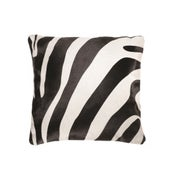 Image of 676685000149 NATURAL -TORINO COWHIDE 18X18 ZEBRA