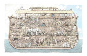 "Image of Noah's Ark 17"" X 19"""