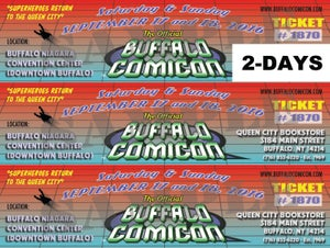 Image of 2-Day Buffalo Comicon Ticket SALE (for Sept 2016 event)