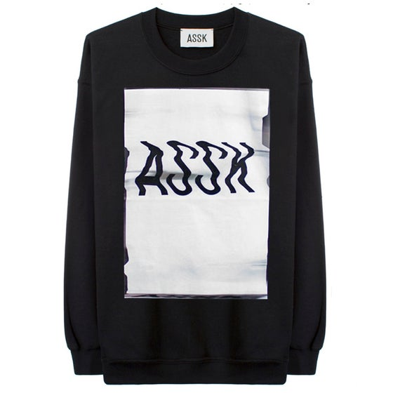 Image of GLITCH LOGO Sweatshirt - Black