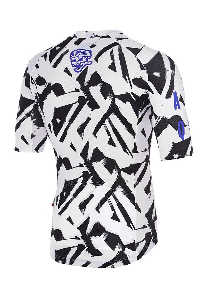 Image of CORE BRUSH JERSEY WHITE/BLACK (FULL PRINT)