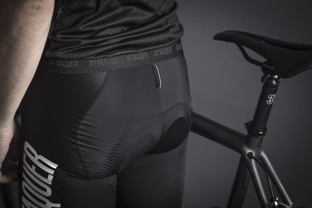Image of RACE BIB SHORT BLACK/CLEAR LOGO