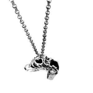 Image of T-Rex Dinosaur Skull Charm Necklace