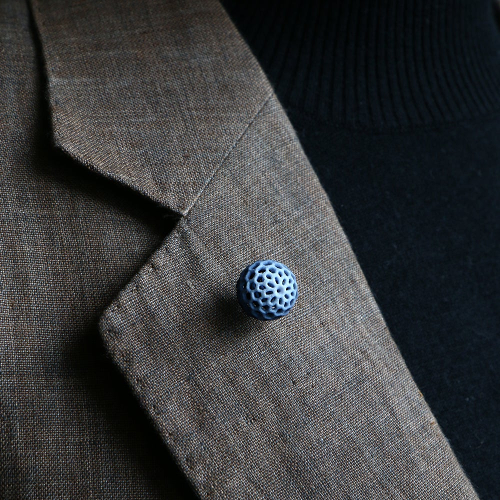 Image of 3D printed tie pin / lapel pin BEHAVE