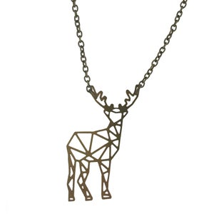 Image of  Geometric Full Stag Necklace