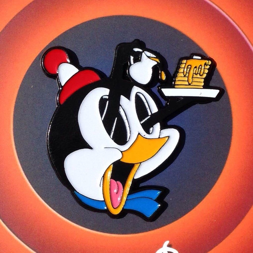 "Image of PinheadCo. x DEAL ""Chilly Willy Hotcakes"" enamel pin"