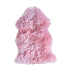 Image of 676685024596 Natural-NEW ZEALAND SHEEPSKIN  SINGLE - PINK