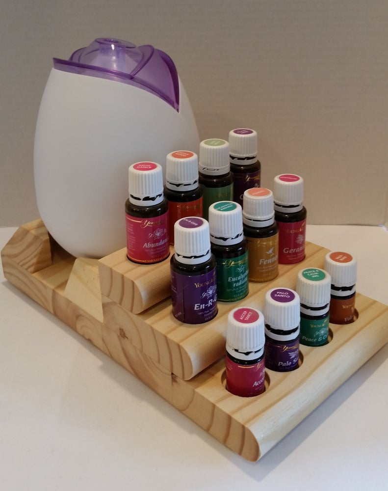 Image of Starter Stair Display -for Young Living & doTerra Essential Oils and Diffuser