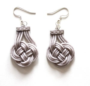 Image of Fabric Knotted Earrings
