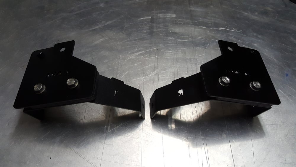 Image of Front Fog Light Brackets, Civic Sedan 4dr 90-91 SH4 *(Complete SET)*