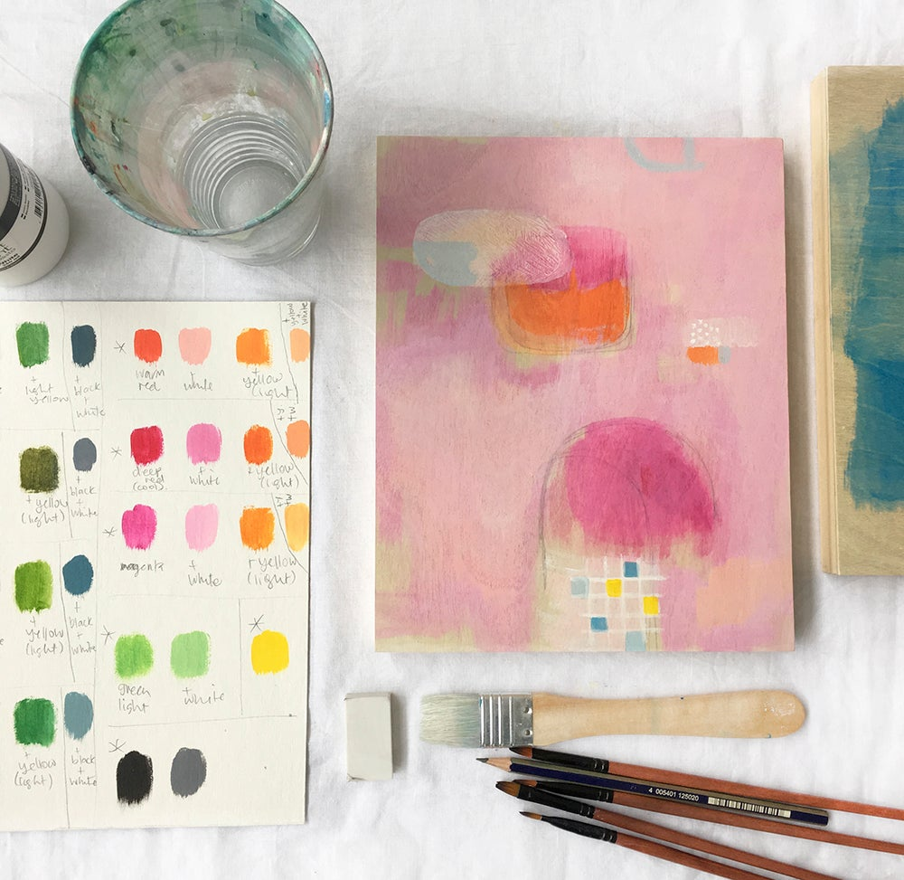 Image of acrylic painting workshop for beginners ~ small group