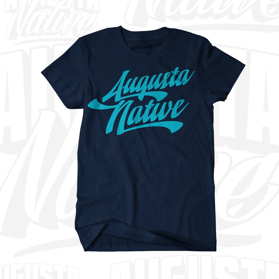 Image of Augusta Native Vintage Logo - Navy/LtBlue