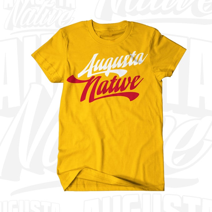 Image of Augusta Native Vintage Logo - Gold/White/Red