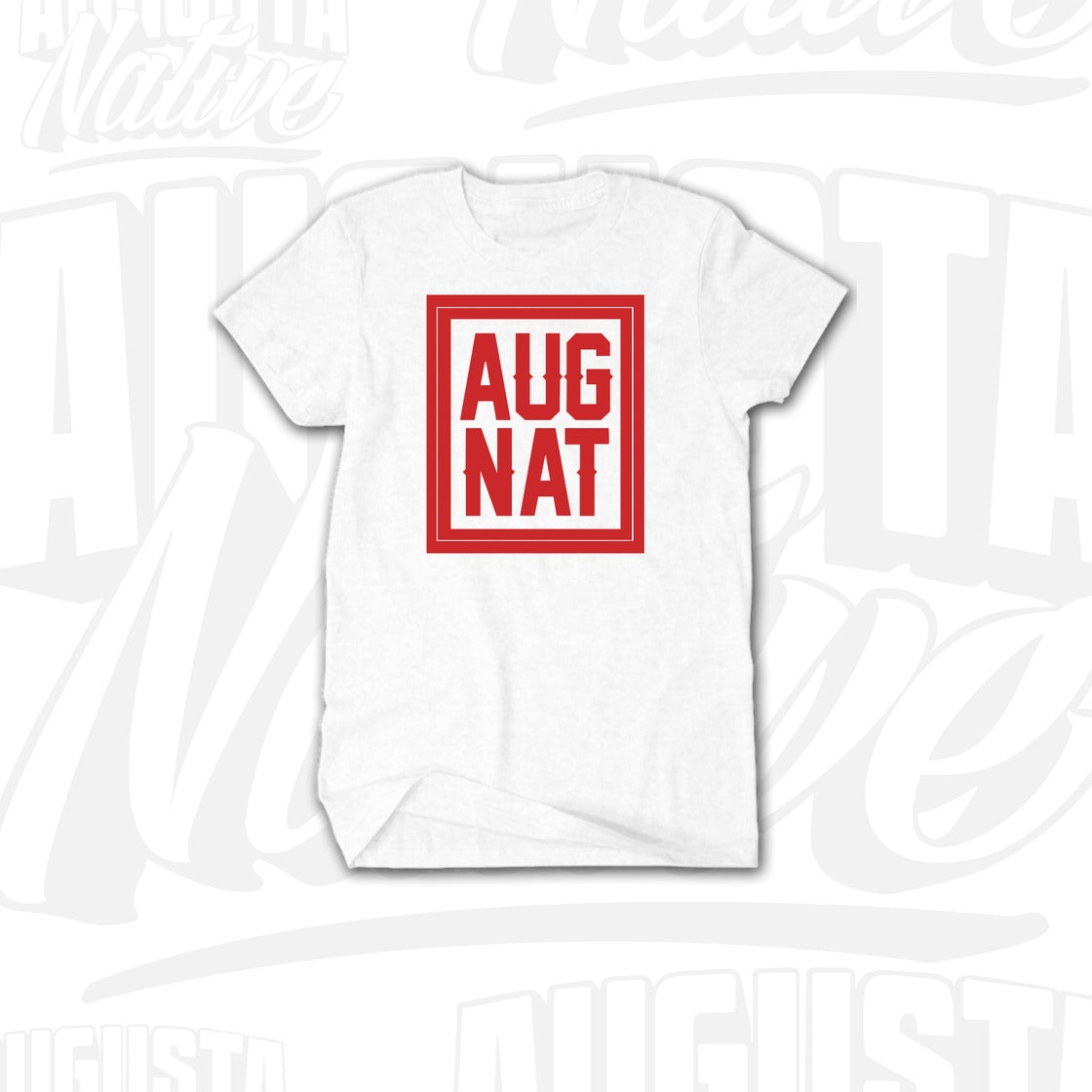 Image of Augusta Native Stamp of Approval - White/Red