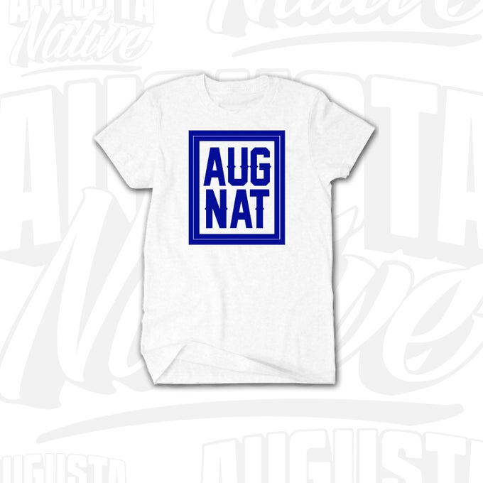 Image of Augusta Native Stamp of Approval - White/Royal