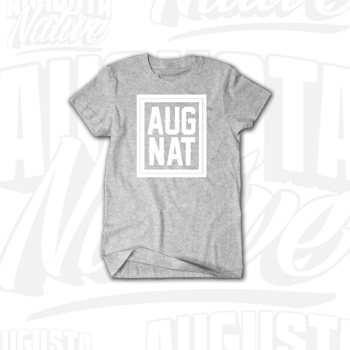 Image of Augusta Native Stamp of Approval - Grey/White