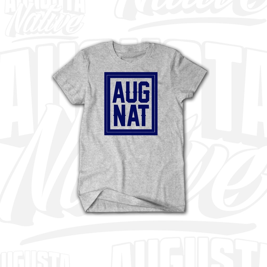 Image of Augusta Native Stamp of Approval - Grey/Royal