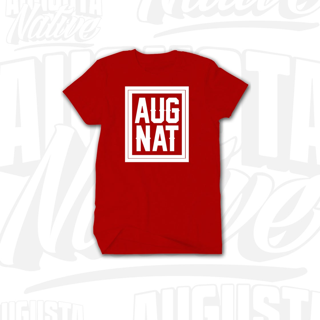 Image of Augusta Native Stamp of Approval - Red/White