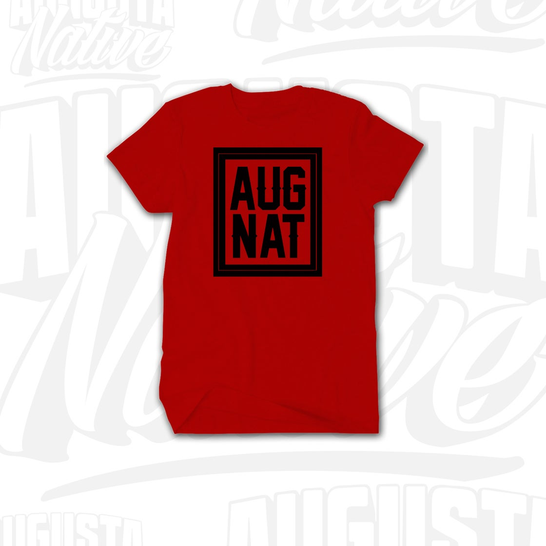 Image of Augusta Native Stamp of Approval - Red/Black