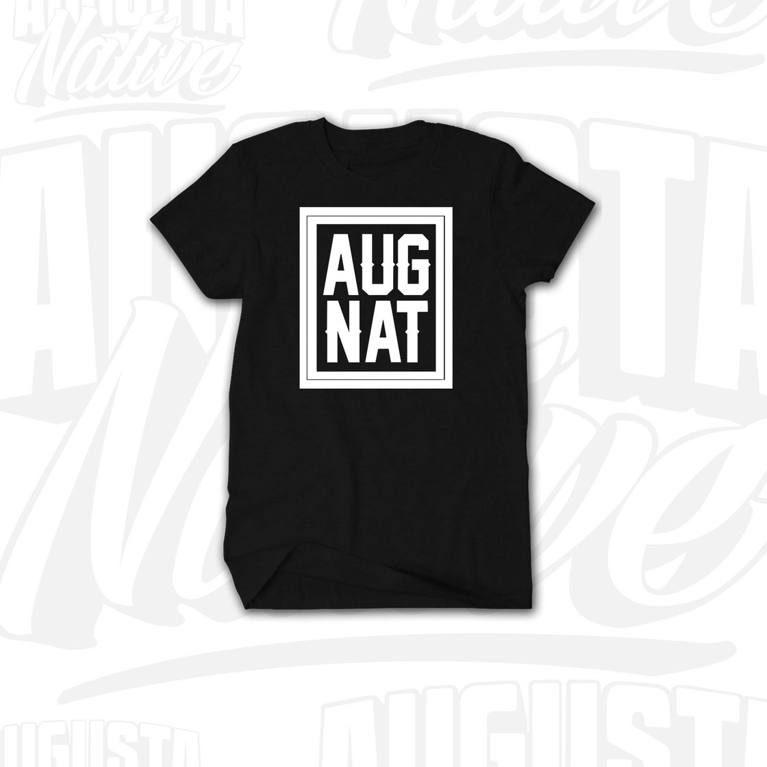 Image of Augusta Native Stamp of Approval - Black/White