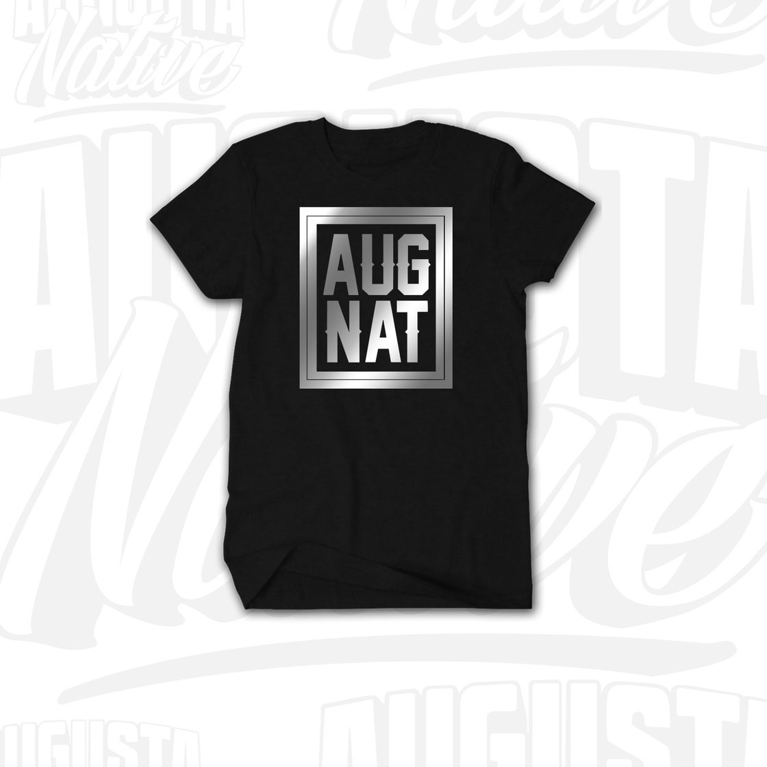 Image of Augusta Native Stamp of Approval - Black/Silver
