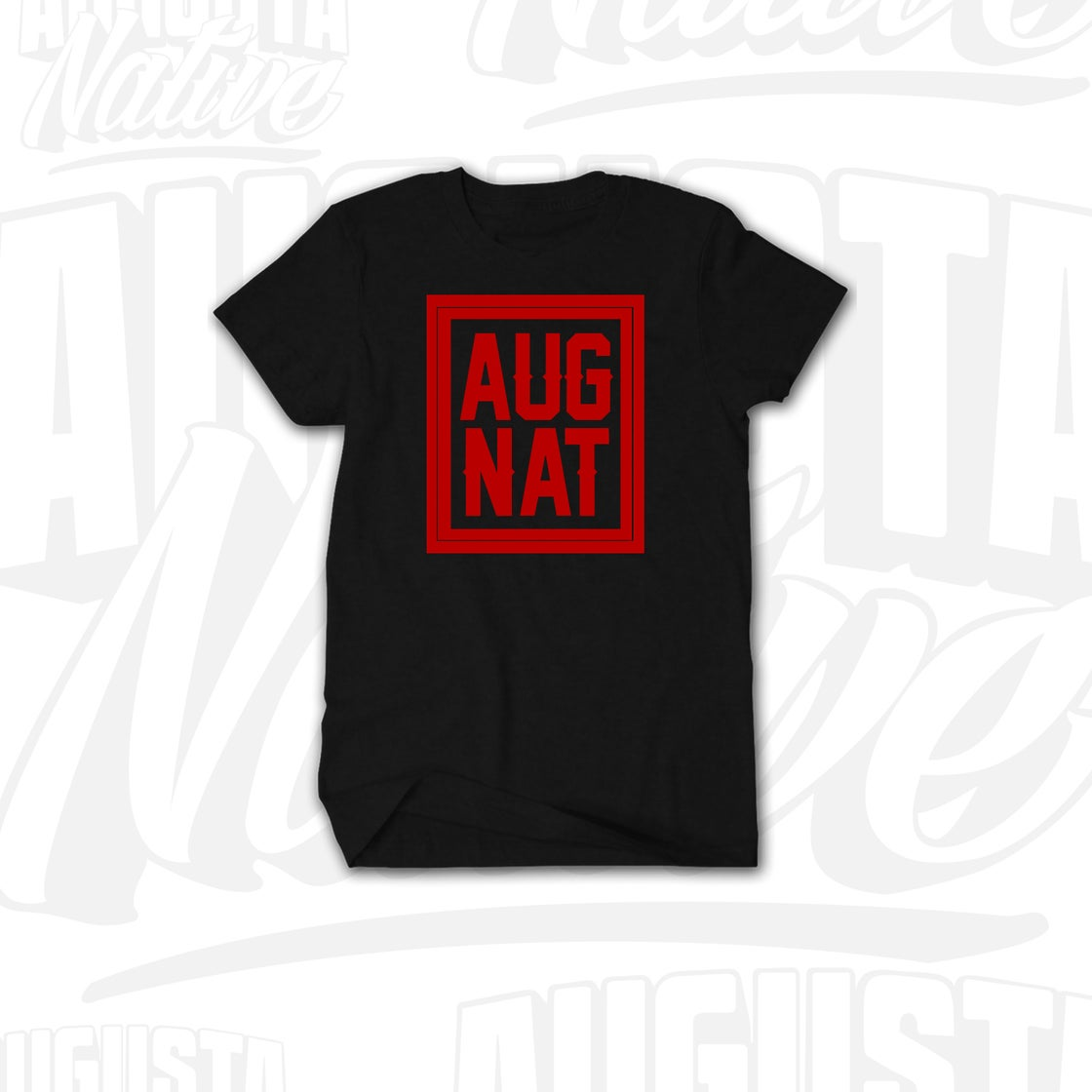 Image of Augusta Native Stamp of Approval - Black/Red