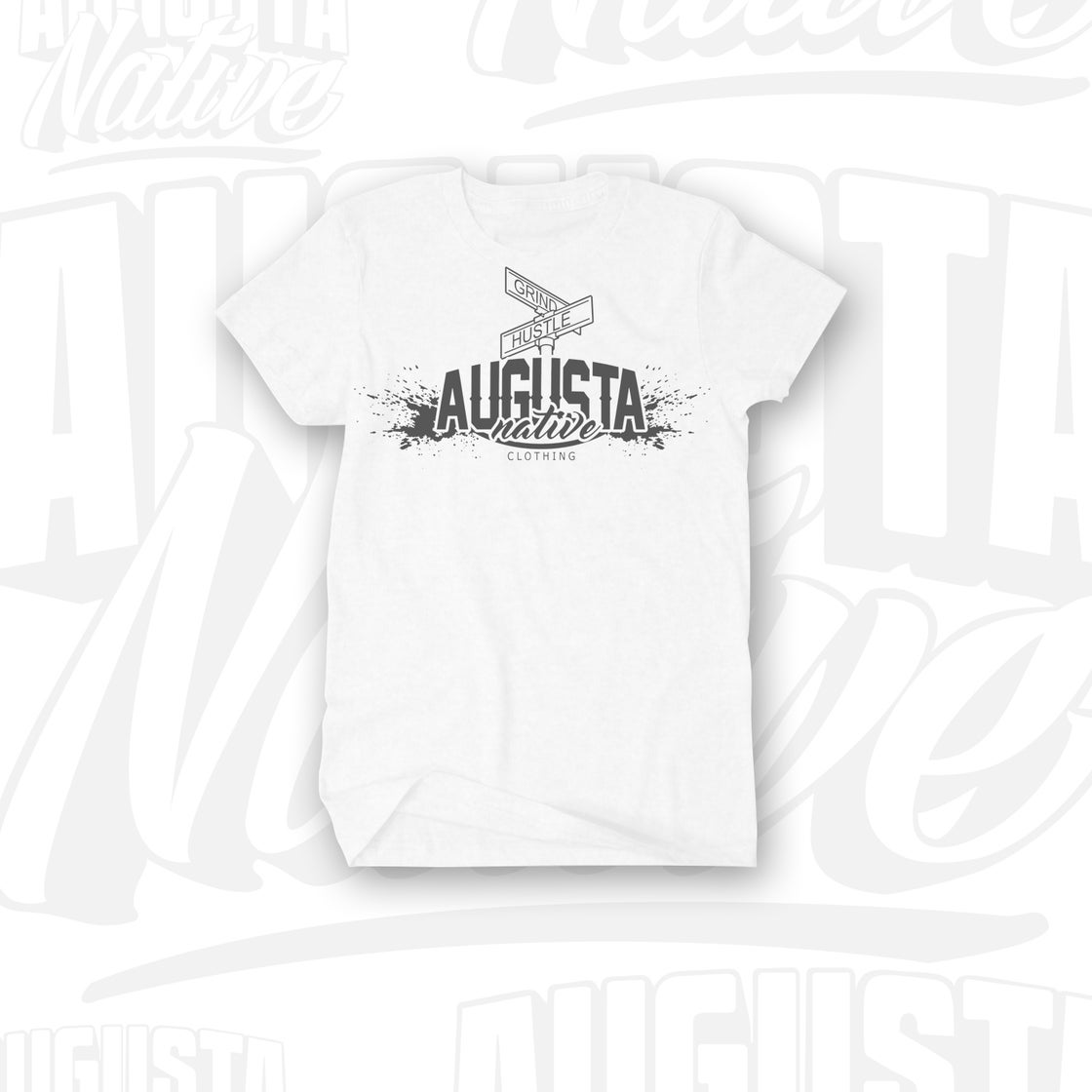 Image of Augusta Native Grind/Hustle - White/Silver