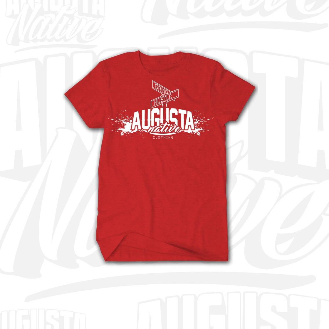Image of Augusta Native Grind/Hustle - Red/White