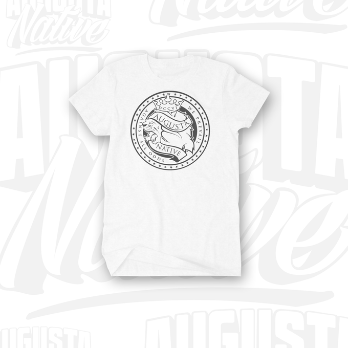 Image of Augusta Native Lions' Crest / Pride of the City - White/Silver