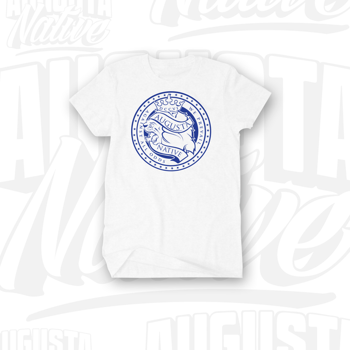 Image of Augusta Native Lions' Crest / Pride of the City- White/Royal