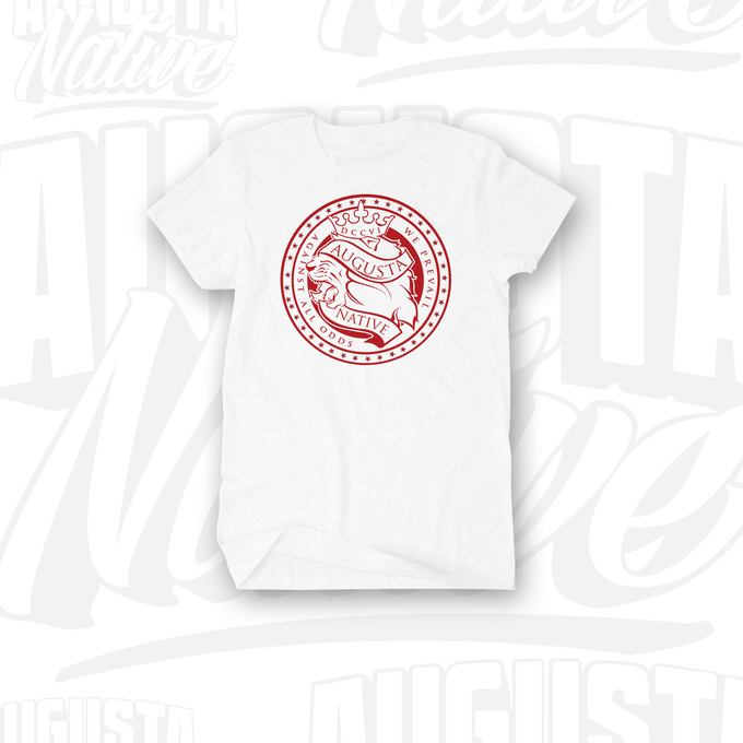 Image of Augusta Native Lions' Crest / Pride of the City - White/Red