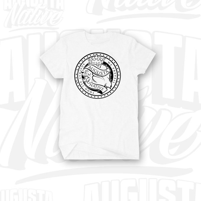 Image of Augusta Native Lions' Crest / Pride of the City - White/Black