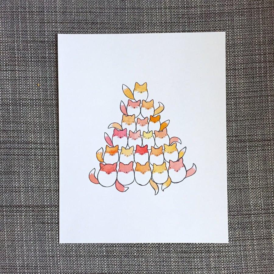Image of fox pile print
