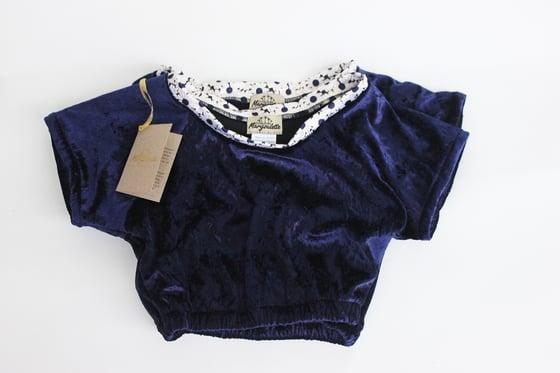 Image of Dark Blue Velvet T-shirt