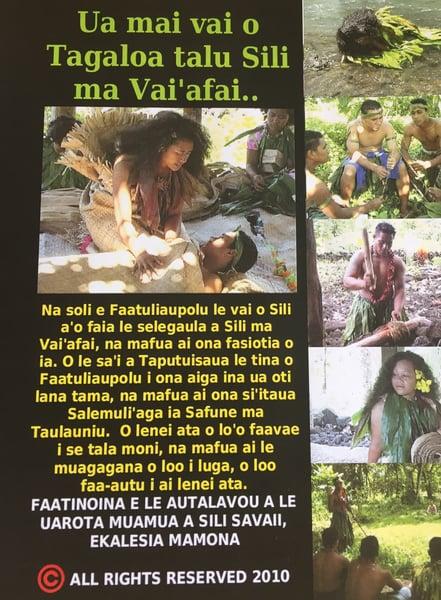 Image of UA MAI VAI O TAGALOA TALU SILI MA VAIAFAI