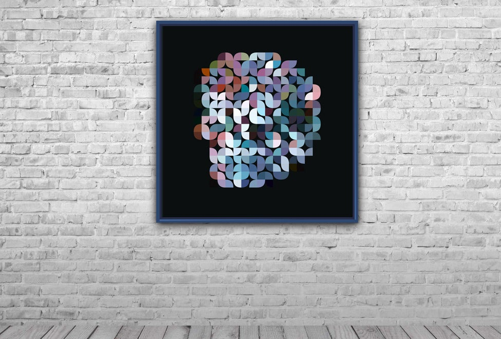 Image of Squint Abstract Print Skull
