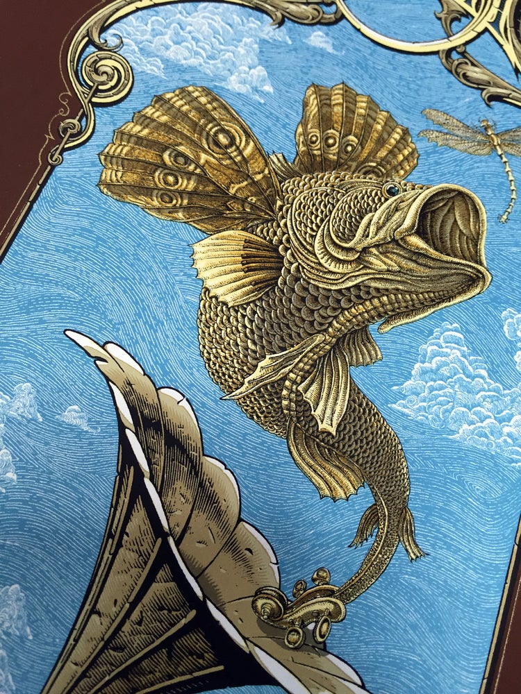 "Image of Decemberists ""Flying Fish"" Small poster by Emek and Aaron Horkey"