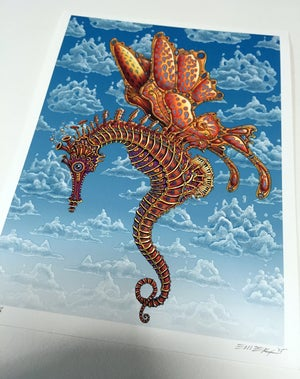 Image of Seahorse Butterfly Art Print by Emek